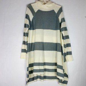 Umgee Sz L Striped Tunic Sweater Women L/S A-Line